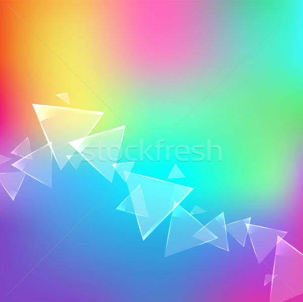 Resumen colorido vector diseno vidrioso triángulo Foto stock © Artspace