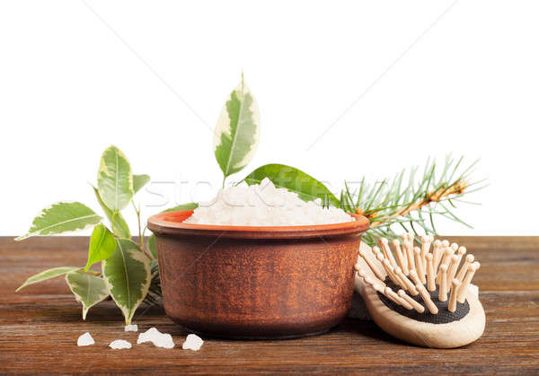 Aromatic bath salt and comb Stock photo © Artspace