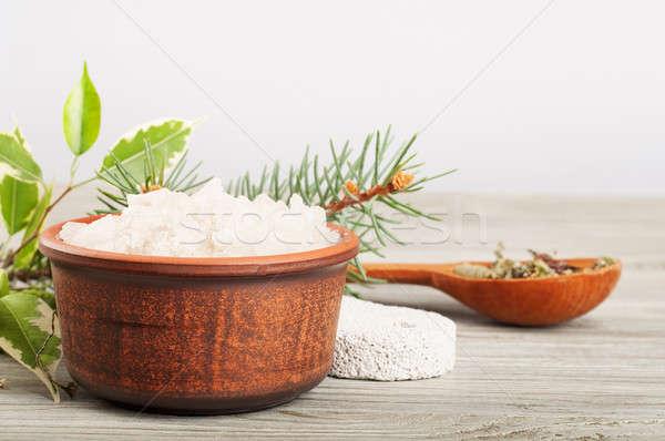 Bath salt and pumice stone Stock photo © Artspace