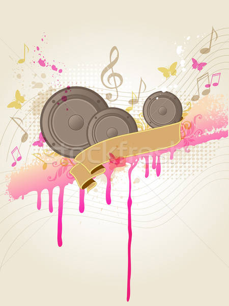 Music background with speakers Stock photo © Artspace
