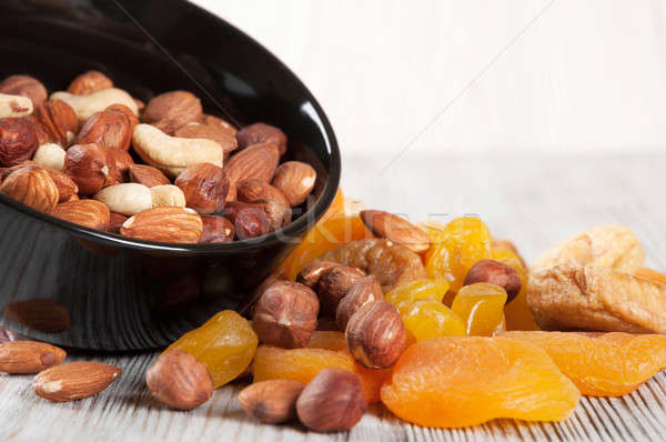 Vruchten verschillend noten gedroogd houten geglaceerd Stockfoto © Artspace