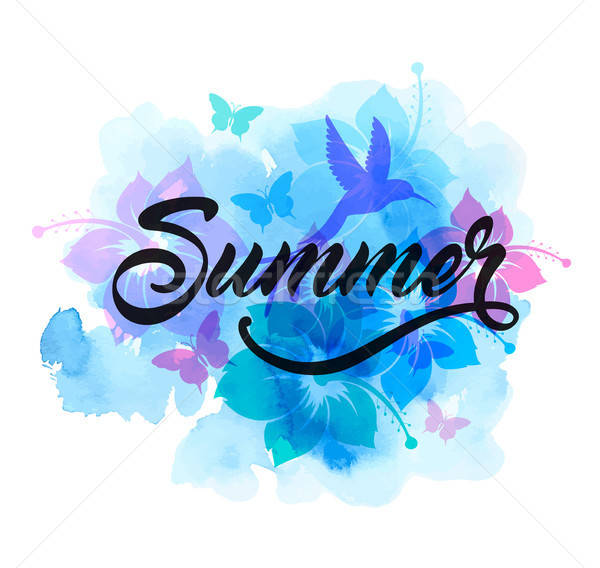 Blue abstract summer tropical background Stock photo © Artspace