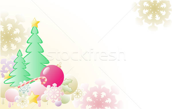 Christmas background with firs Stock photo © Artspace