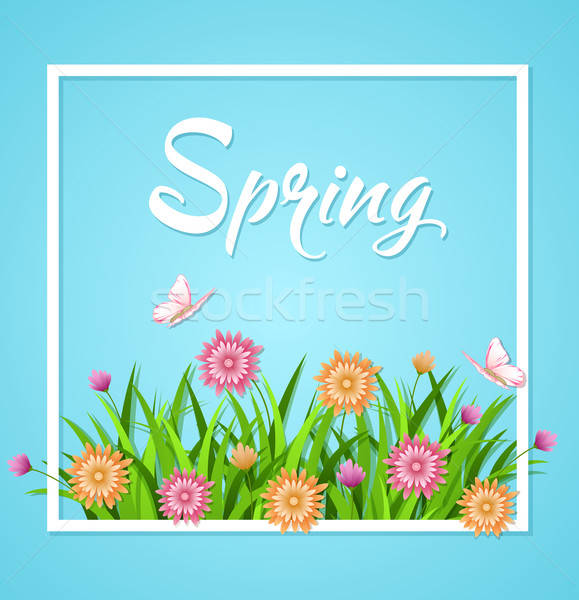 Blue spring background  Stock photo © Artspace