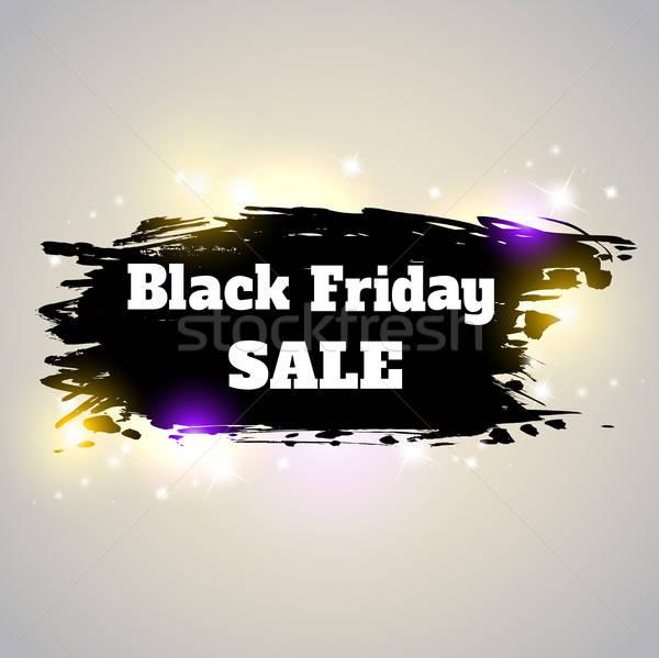 Bandeira black friday venda abstrato brilhante fundo Foto stock © Artspace