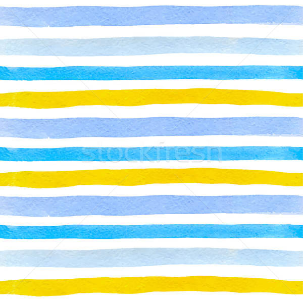 Pattern with blue and yellow lines  Stock photo © Artspace