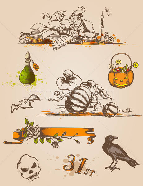 Halloween design elements Stock photo © Artspace