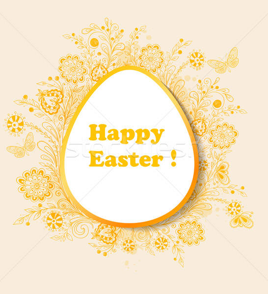 Easter background with orange flowers Stock photo © Artspace
