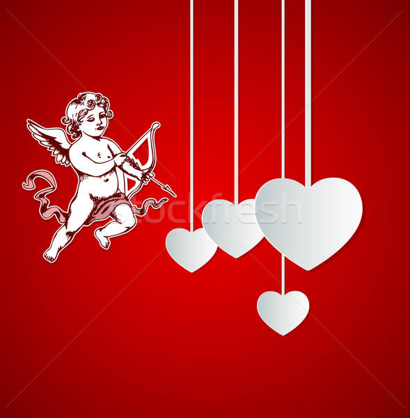 Background with Cupid for Valentine's day Stock photo © Artspace