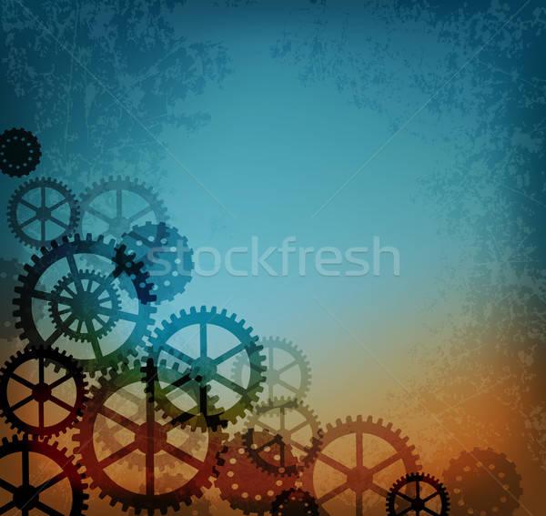 Absztrakt ipari stílus steampunk klasszikus viselet Stock fotó © Artspace