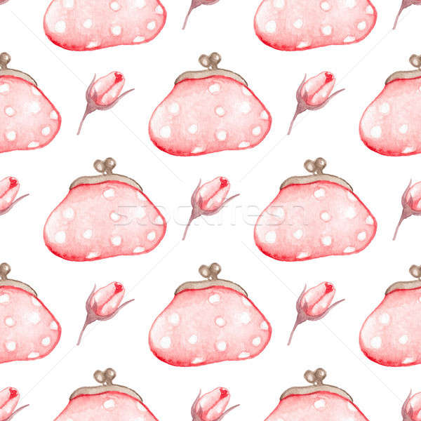 Seamless pattern with handbag Stock photo © Artspace