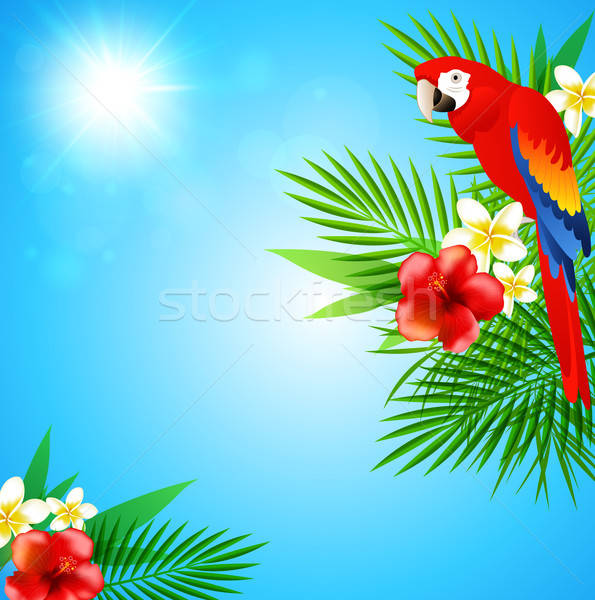 Blue summer background Stock photo © Artspace