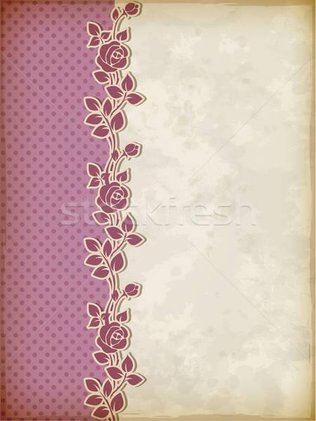 Retro background with roses Stock photo © Artspace