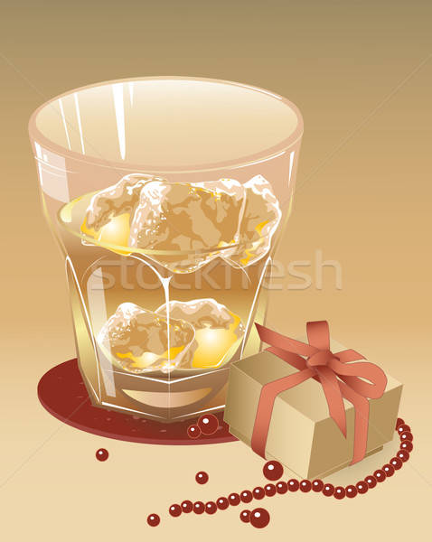 glass of whiskey with the blocks of ice Stock photo © Artspace