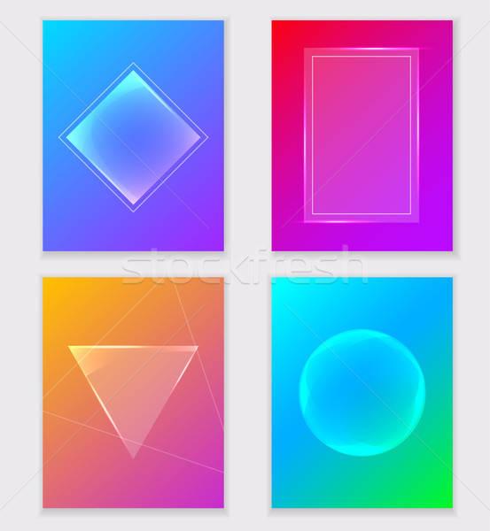 Abstrato colorido gradiente fundos conjunto vetor Foto stock © Artspace