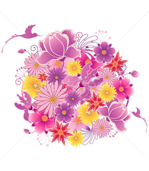 Colored floral background Stock photo © Artspace