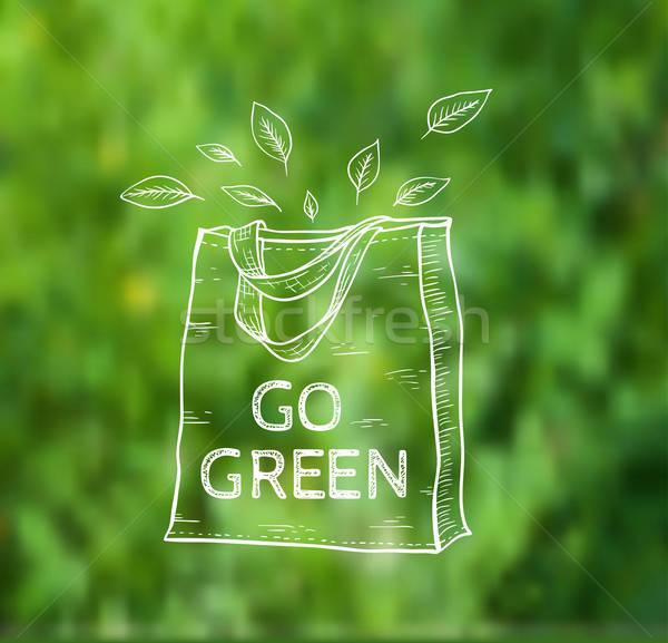 Reusable shopping bag Stock photo © Artspace