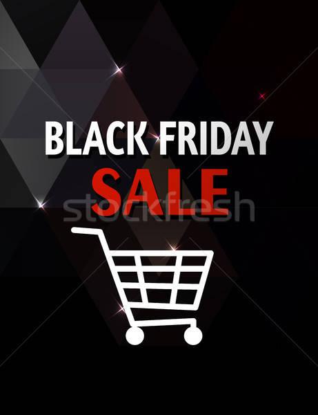 Black friday vente résumé noir géométrique texture Photo stock © Artspace