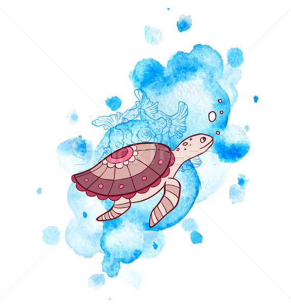 Sea and turtle Stock photo © Artspace