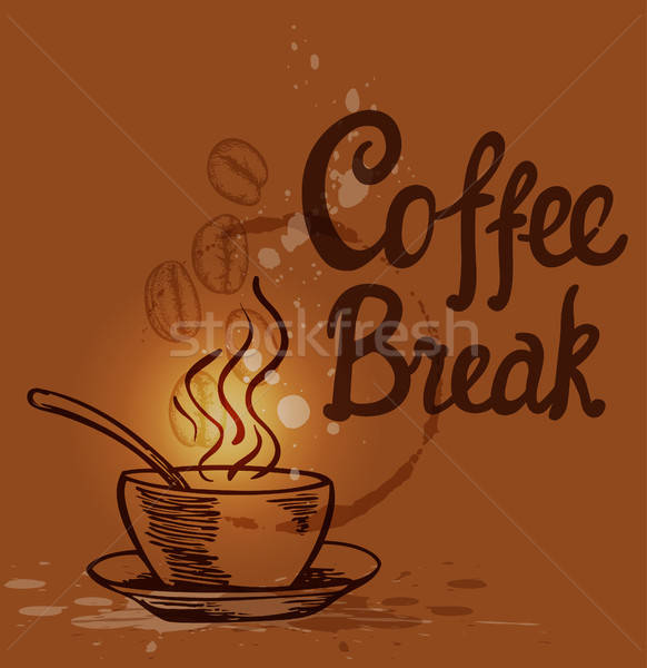Coffee background with cup Stock photo © Artspace