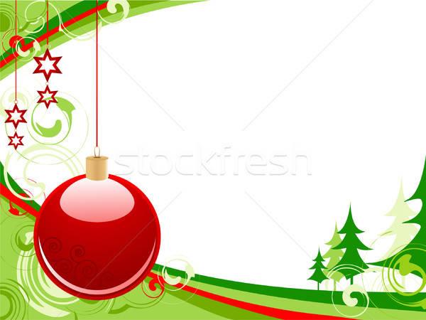Noël rouge balle vert jouet ruban Photo stock © Artspace