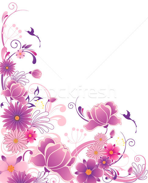 floral background with ornament Stock photo © Artspace