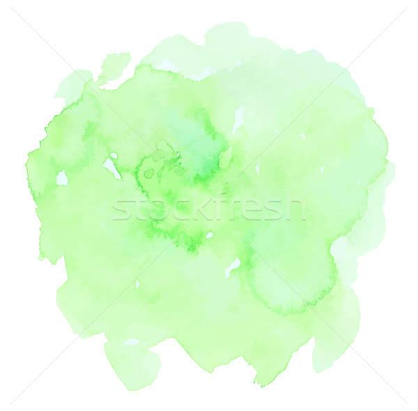 Stock photo: Green watercolor vector texture