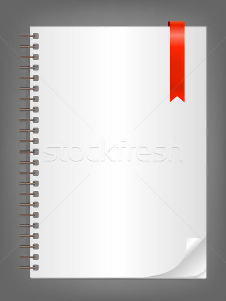 Notebook with bookmark Stock photo © Artspace