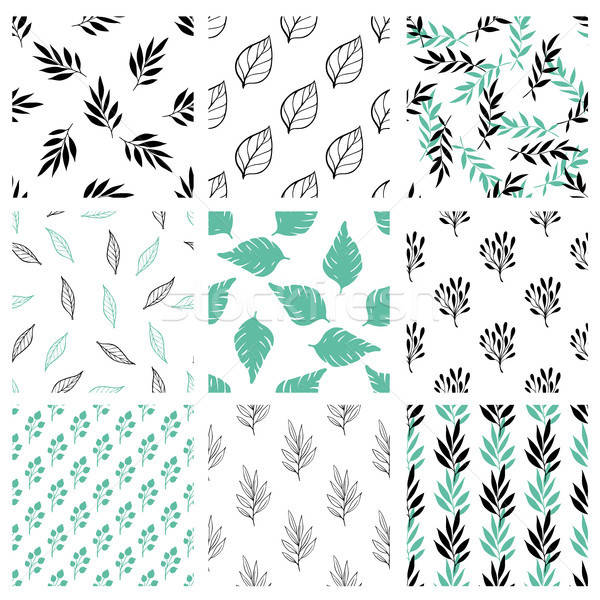 Set of floral seamless patterns Stock photo © Artspace