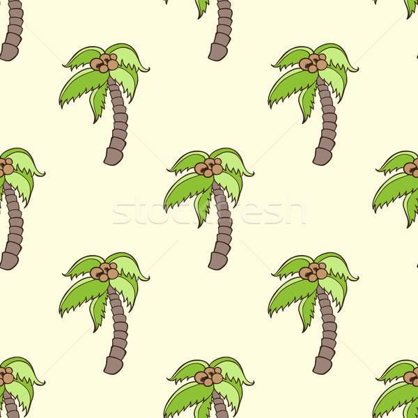 Végtelen minta kókuszpálma trópusi nyár háttér pálma Stock fotó © Artspace