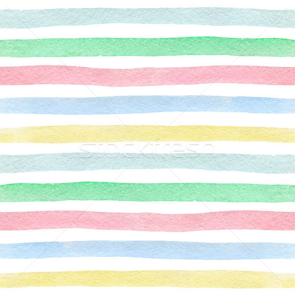 Stock photo: Watercolor striped seamless pattern