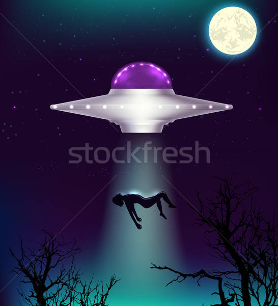 UFO abducts a man Stock photo © Artspace
