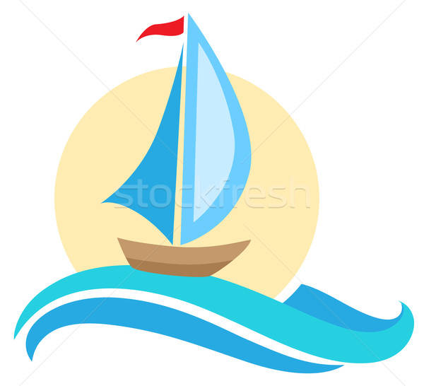 Vector ship icon Stock photo © Artspace