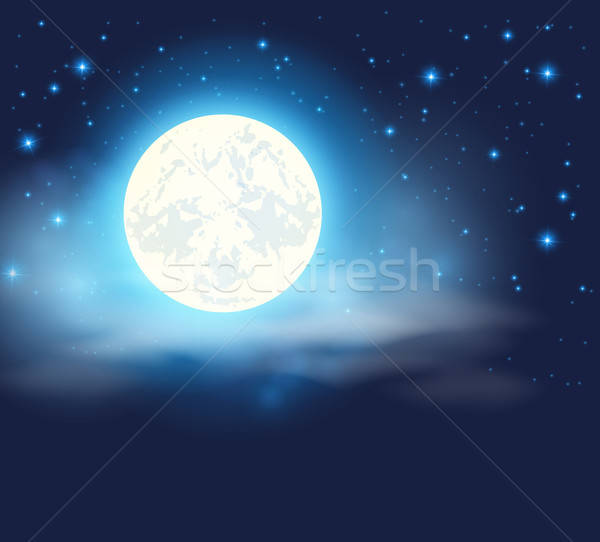 Night sky with a full moon Stock photo © Artspace
