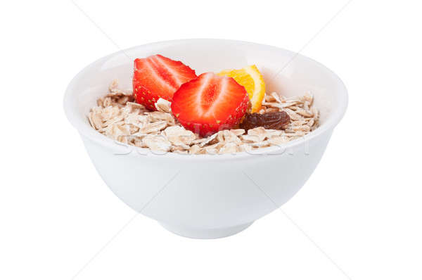 Porridge  in white dish Stock photo © Artspace