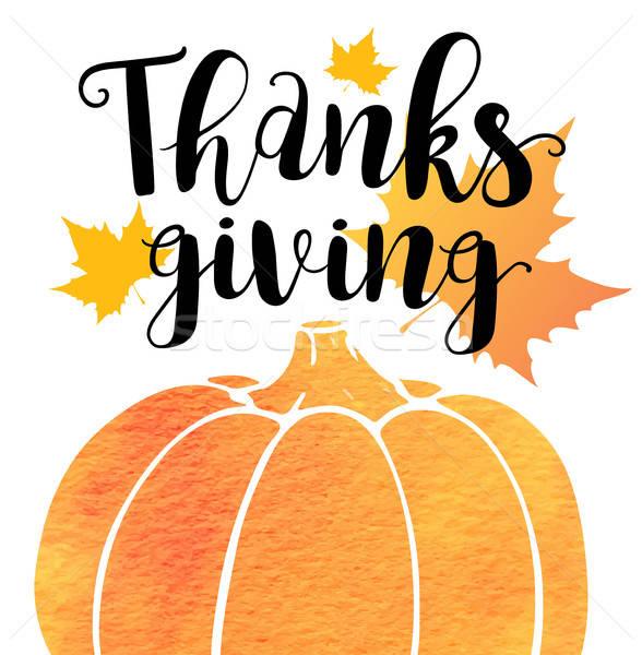 Greeting card for Thanksgiving Da Stock photo © Artspace