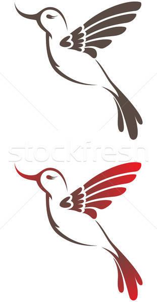 Hummingbird набор два вектора стилизованный символ Сток-фото © Artspace