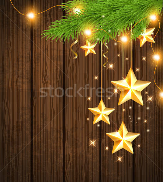 Christmas background with golden stars  Stock photo © Artspace