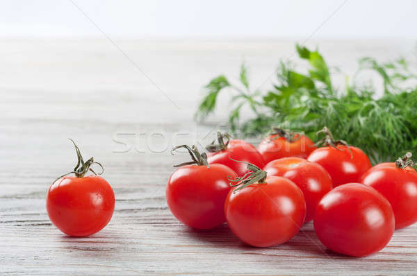 Cherry tomatoes and dill Stock photo © Artspace