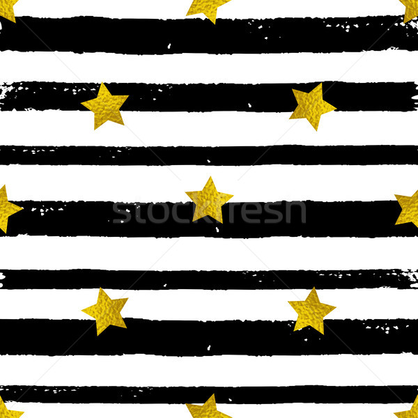 Golden stars and black lines  Stock photo © Artspace