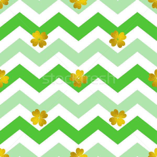 шаблон зеленый линия клевера декоративный Сток-фото © Artspace