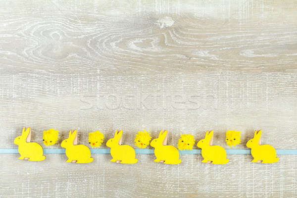 Easter holiday composition in yellow colors Stock photo © artsvitlyna