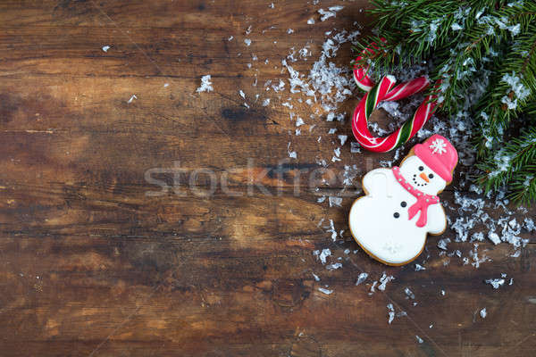 Stock photo: Christmas and New Year dark composition