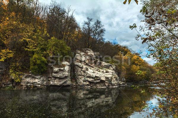 Terrific view of the River Canyon on a sunny fall dayTerrific vi Stock photo © artsvitlyna