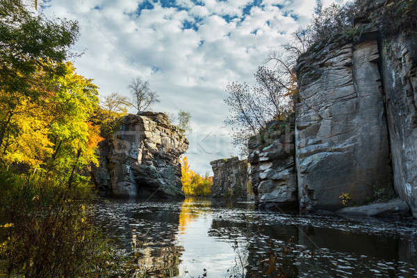 Magnificent river canyon in the fall Stock photo © artsvitlyna