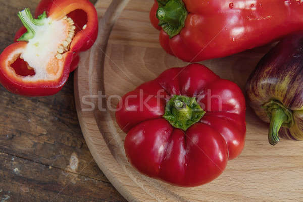 Red and purple sweet pepper Stock photo © artsvitlyna