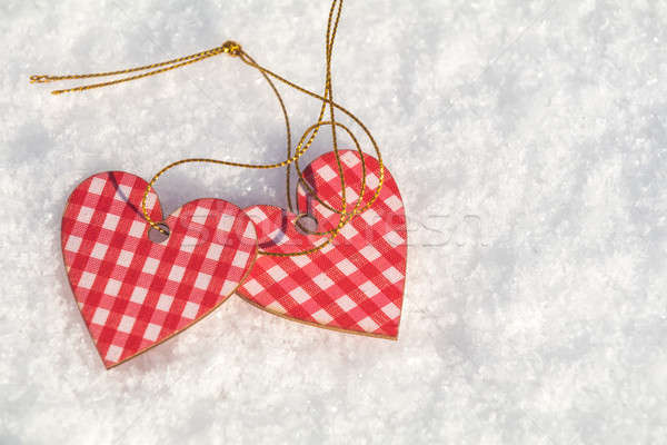 Stock photo: Beautiful valentine holiday background with two checkered motley