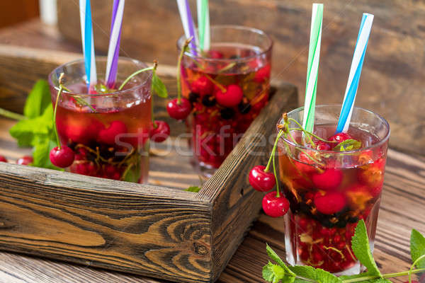 Refreshing  drinks flavored with fresh fruit Stock photo © artsvitlyna