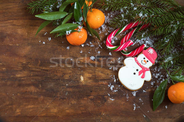 Christmas and NY composition on dark background Stock photo © artsvitlyna