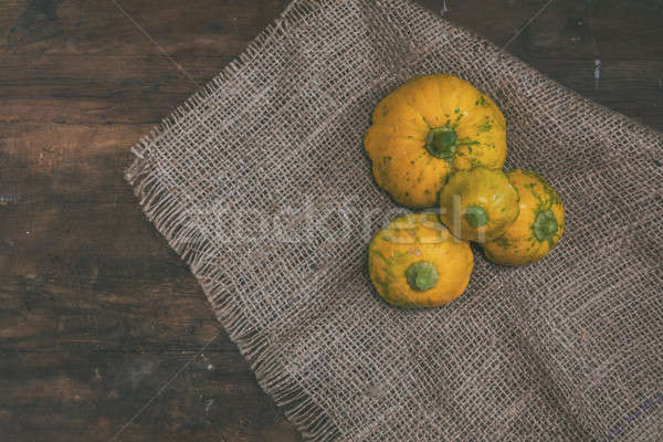 Stock photo: Yellow spotted pattypan squash
